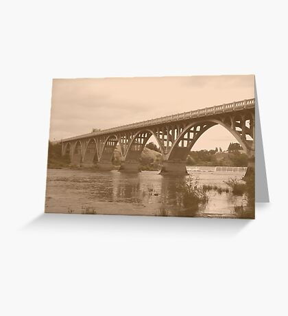 Winchester Oregon Historic Bridge (available in ipad case) Greeting Card