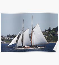 First Bright, Sunny, Spring Day on Commencement Bay Poster