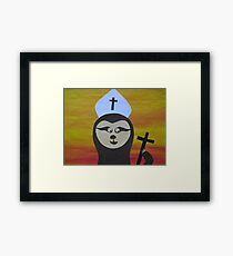 Sloth of the cloth - Animal Rhymes - created from recycled math books Framed Print