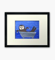 Sloth in a trough Framed Print