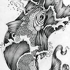 Koi in Graphite by Concetta Kilmer