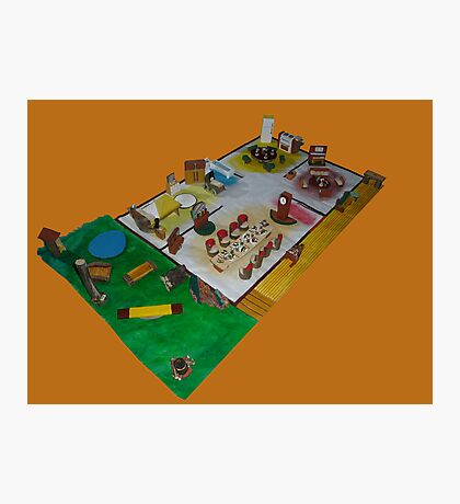 Lunch box dolls house Photographic Print