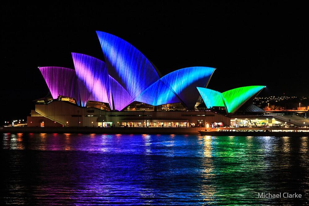 Sydney Opera House at night by Michael Clarke