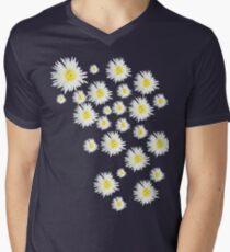 White Flower - daisy like Men's V-Neck T-Shirt