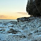 Evening Falls at Cave Point. by spiffyriki