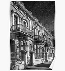 Terrace houses North Terrace Adelaide. Poster