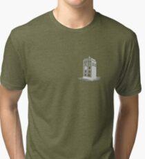 Dr Who's Tardis - Grey Tri-blend T-Shirt