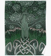 Tree of cognizance - acrylic on board Poster