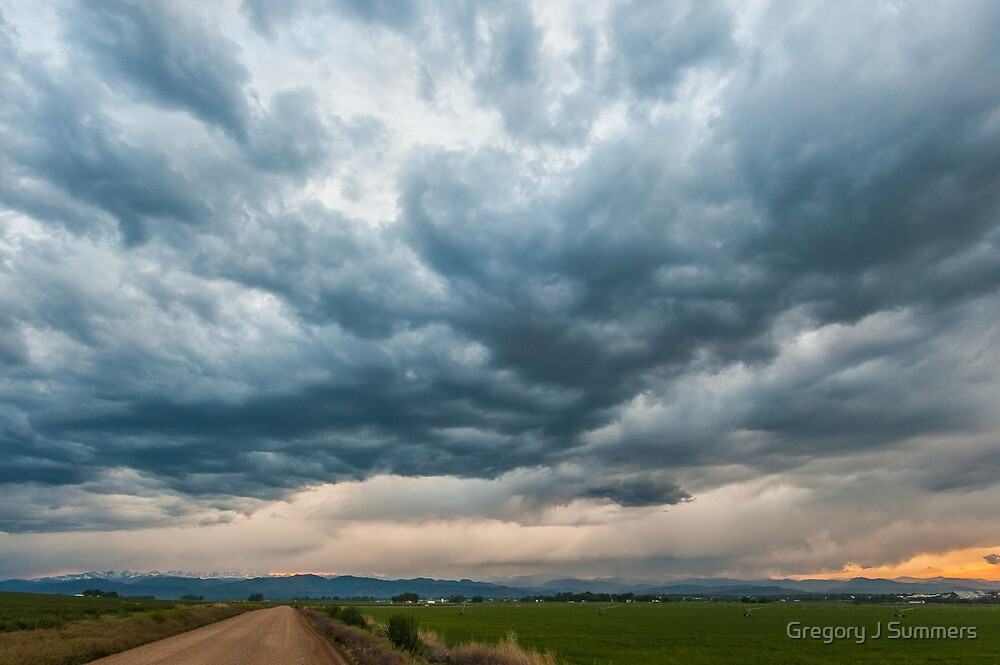 Storm Clouds on The Road Home by nikongreg