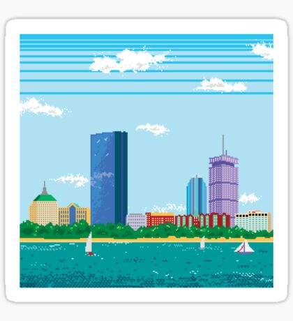 Boston Pixel Skyline Sticker