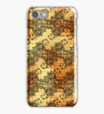 Black Lace over Shimmering Gold iPhone Case/Skin