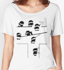 Chubbi Ninja - Black Women's Relaxed Fit T-Shirt