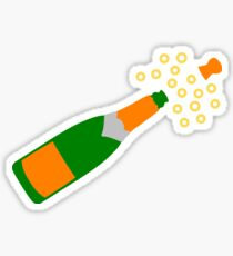Champagne Bottle and Popping Cork Sticker