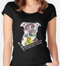 Pitbull BSL White Women's Fitted Scoop T-Shirt