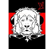 King Of Jungle (Red & Black) Photographic Print