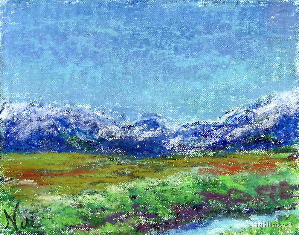 Sierra Slopes (pastel) by Niki Hilsabeck