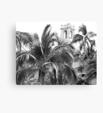 A Sneak Peek at the Royal Hawaiian Hotel Through the Palm Trees Canvas Print