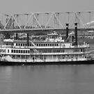 Belle of Cincinnati BW - BB Riverboats by Tony Wilder