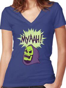 Myaah! Women's Fitted V-Neck T-Shirt
