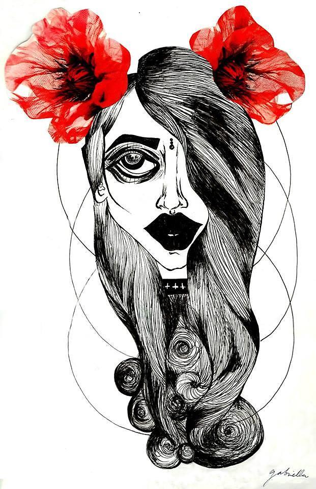 Grunge Gypsee Goddess  by sourgirlart