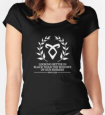 Shadowhunter Motto Women's Fitted Scoop T-Shirt