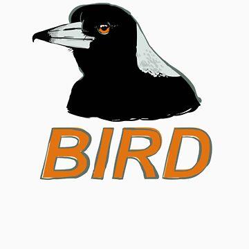 BIRD - Australian Magpie by Sadgi