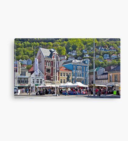 Street Market - Bergen Canvas Print