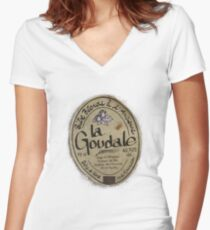 LA GOUDALE. Women's Fitted V-Neck T-Shirt