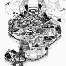 Pixelcat Adventure Concept map drawing by Adew