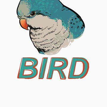 BIRD - Quaker Parrot (Blue) by Sadgi