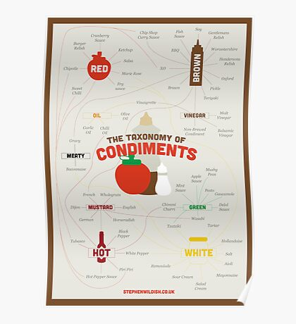 The Taxonomy of Condiments Poster