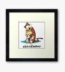 Hug Calvin and Hobbes Framed Print