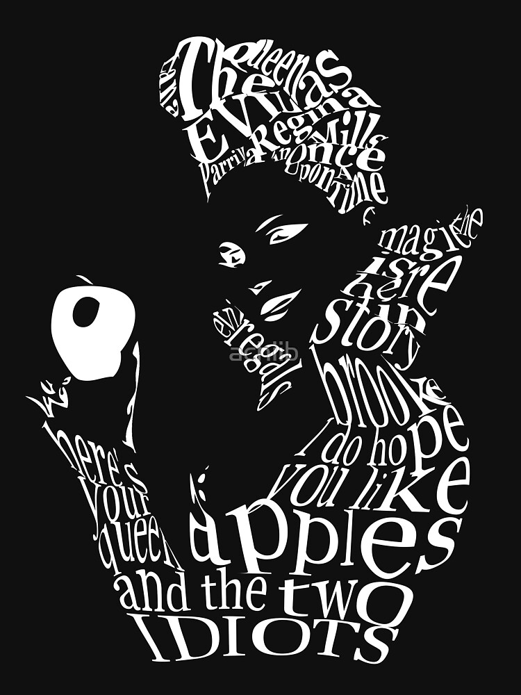 The Evil Queen - Calligram - color Black by achiib