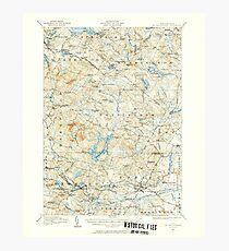 USGS TOPO Map New Hampshire NH Mt Pawtuckaway 330227 1917 62500 Photographic Print