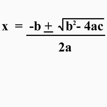 Quadratic Formula Funny Shirt by MarinaArts