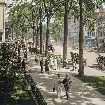 Broadway in Saratoga Springs, New York, ca 1915 (16:9 crop)  by SannaDullaway