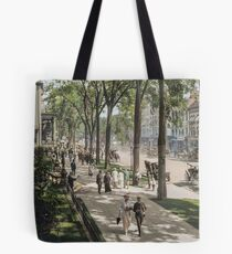 Broadway in Saratoga Springs, New York, ca 1915 (16:9 crop)  Tote Bag