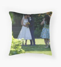Wedding at Greenbank Gardens, Glasgow Throw Pillow