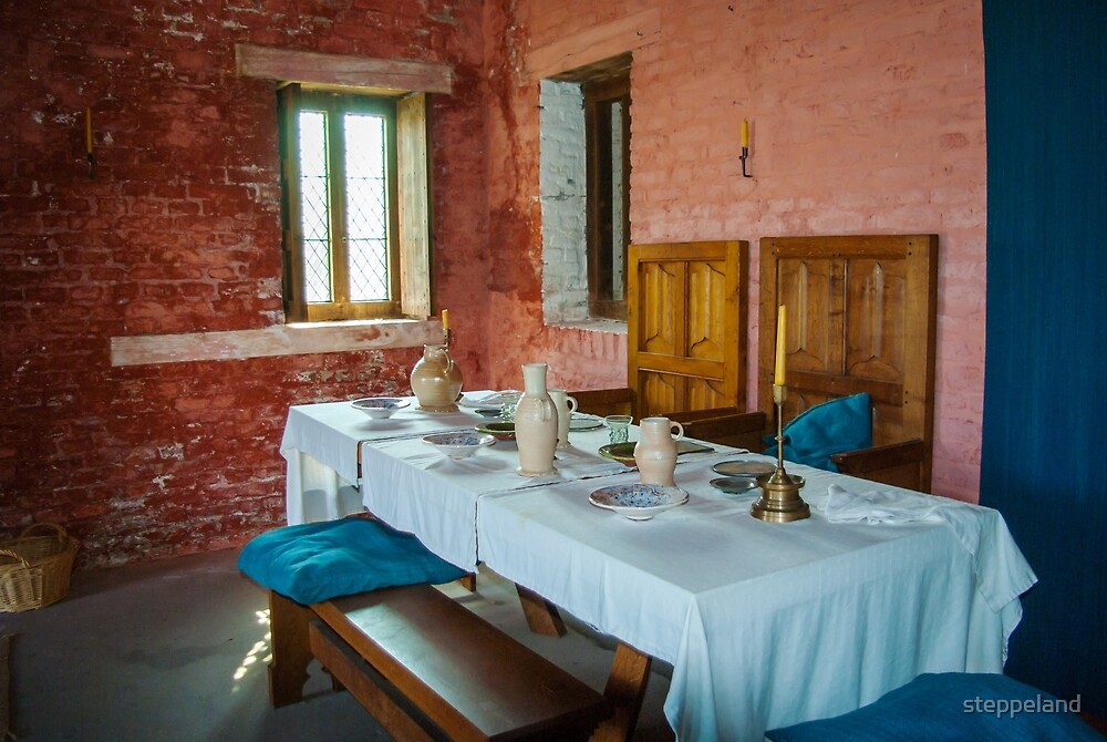 Dining table of the rich medieval shipowner - Walraversijde by steppeland