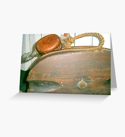 Old Boat Pulley Greeting Card