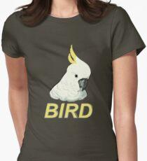 BIRD - Sulphur-crested Cockatoo Women's Fitted T-Shirt