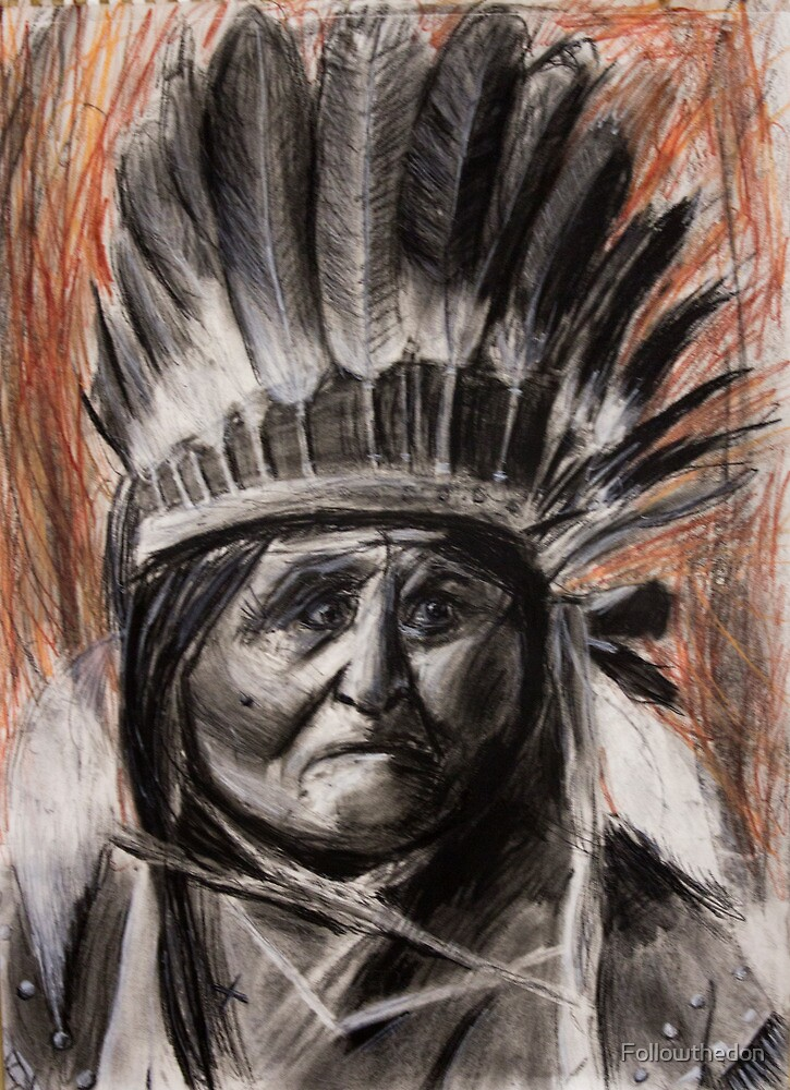 Drawing of Chief Geronimo by Followthedon