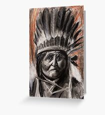 Drawing of Chief Geronimo Greeting Card