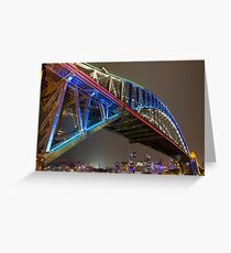 Harbour Bridge - Vivid Festival Greeting Card