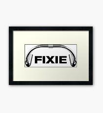 Classic Track Handlebar - FIXIE XL Framed Print