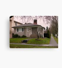 Starter Home on the Corner Canvas Print