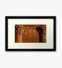 Edfu Temple Detail Framed Print