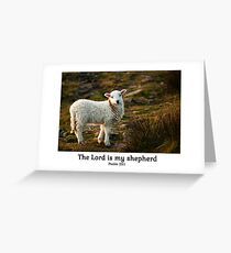 Lord Is My Shepherd (Caption) Psalm 23 Greeting Card