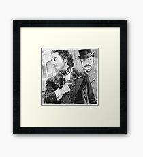 Sherlock Holmes & Doctor Watson Framed Print