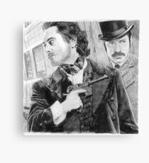 Sherlock Holmes & Doctor Watson Canvas Print